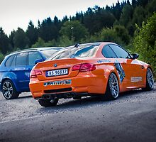 BMW E92 M3 & BMW X5M from the movie Børning by Sviddgummi
