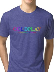 Coldplay A Head Full of Dreams Band Tour and Album Logo - Perfect for t-shirts, hoodies, and stationary.  Tri-blend T-Shirt