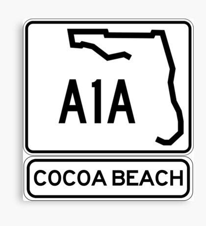 A1A - Cocoa Beach Canvas Print