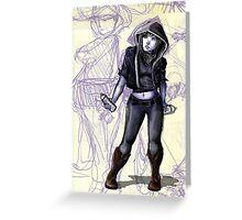 Female Graffiti Artist Greeting Card
