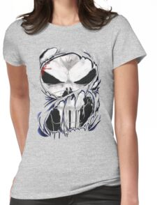 torn skull tee Womens Fitted T-Shirt