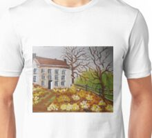 House with Flowers Unisex T-Shirt