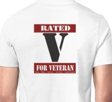 Rated V for Veteran Unisex T-Shirt