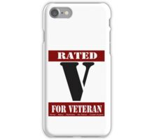 Rated V for Veteran iPhone Case/Skin