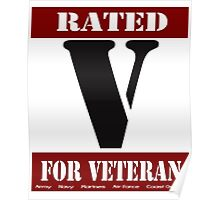 Rated V for Veteran Poster