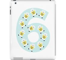 "Kolarkub number ""6"" in blue  iPad Case/Skin"