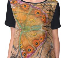 """Meadow Argus""  Chiffon Top"