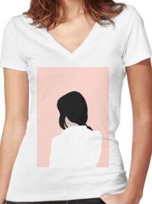 Dezi Women's Fitted V-Neck T-Shirt