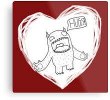 Hug Monster Metal Print