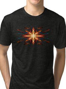Energetic Geometry- Fire Element Tri-blend T-Shirt