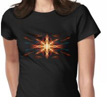 Energetic Geometry- Fire Element Womens Fitted T-Shirt