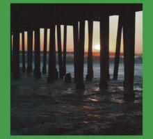 Sunset Under The Ventura Pier One Piece - Short Sleeve