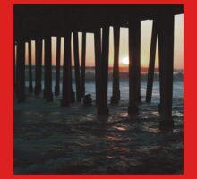 Sunset Under The Ventura Pier Kids Tee