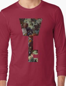 Kingdom Hearts -Key Symbol - Floral Long Sleeve T-Shirt