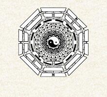 Mandala Yin Yang (white) Hoodie