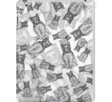 BAT CAT Pattern BW iPad Case/Skin