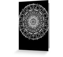 Mandala Om (white) Greeting Card