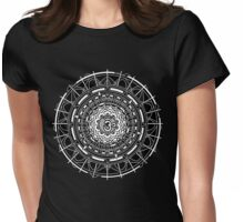 Mandala Om (white) Womens Fitted T-Shirt