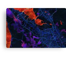 Dark map of Silicon Valley Canvas Print