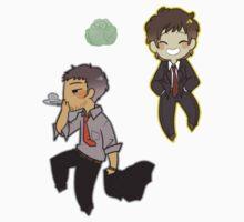 Persona 4 Adachi Tohru and Ryotaro Dojima by toifshi