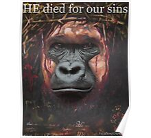 Harambe Jesus- HE died for our sins! Poster