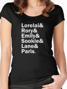 Gilmore Girls - Lorelai & Rory & Emily & Sookie & Paris | Black Women's Fitted Scoop T-Shirt