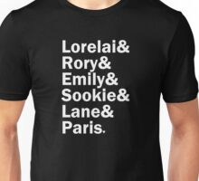 Gilmore Girls - Lorelai & Rory & Emily & Sookie & Paris | Black Unisex T-Shirt