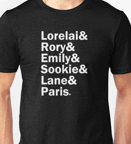 Gilmore Girls - Lorelai & Rory & Emily & Sookie & Paris | Black Unisex T-Shirt