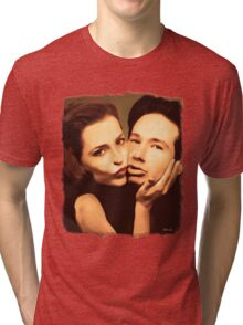 Gillian and David - The Schmoopies Tri-blend T-Shirt