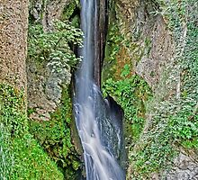 Waterfall at Dyserth by Roger Green