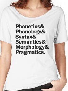 Areas of Linguistics | White Women's Relaxed Fit T-Shirt