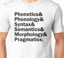 Areas of Linguistics | White Unisex T-Shirt