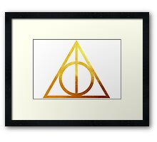 Deathly Hallows Framed Print