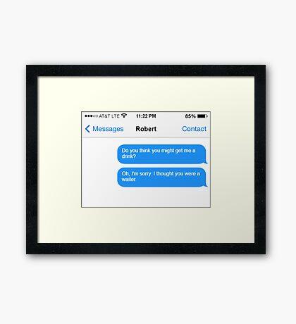 Dowager Texts: Dowager burns Robert  Framed Print