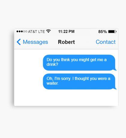 Dowager Texts: Dowager burns Robert  Canvas Print