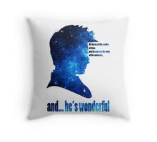 and he' wonderful galaxy Throw Pillow