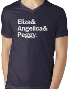 Hamilton - Eliza & Angelica & Peggy | Black Mens V-Neck T-Shirt