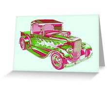 Model A Ford Pickup Hotrod Pop Art Greeting Card