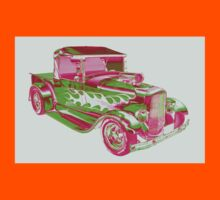 Model A Ford Pickup Hotrod Pop Art Kids Tee
