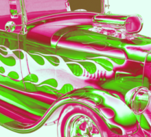 Model A Ford Pickup Hotrod Pop Art Sticker