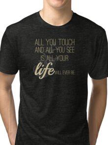 Classic Rock and Roll Floyd Music Lyrics Tri-blend T-Shirt