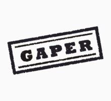 Gaper Stamp (Black) Kids Tee