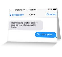 Dowager Texts: dowager burns Lavinia Greeting Card