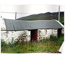 Abandoned Barn, Inishowen Peninsular, Donegal, Ireland Poster