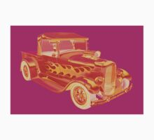 Model A Ford Pickup Hotrod Pop Image One Piece - Long Sleeve