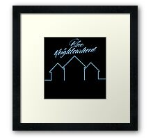 BLUE NEIGHBORHOOD  Framed Print