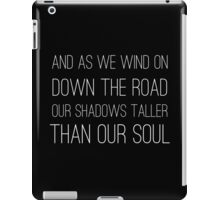 Epic Rock and Roll Famous 60s Lyrics Text Stairway iPad Case/Skin