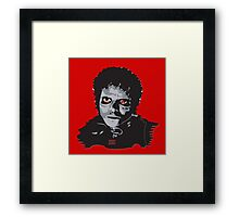 Black Zombie Framed Print