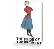 The Pride of the Regiment Greeting Card
