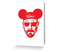 Red Walter White Mouse Ears Greeting Card